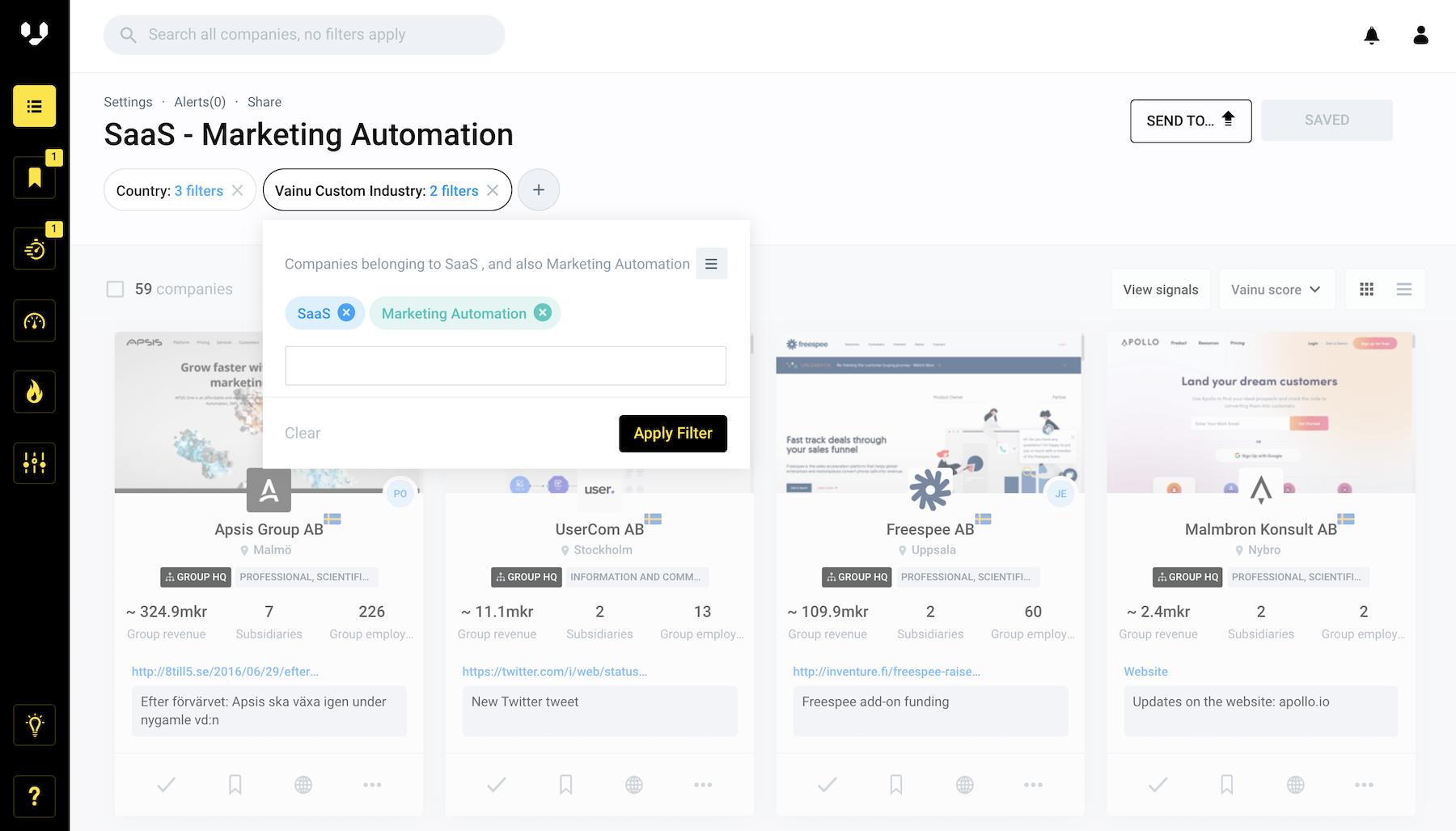 SaaS - Marketing Automation