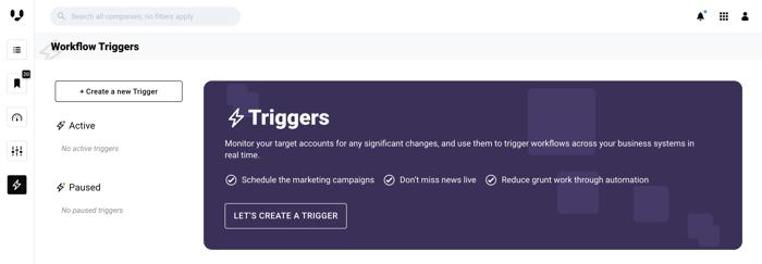 Triggers UI