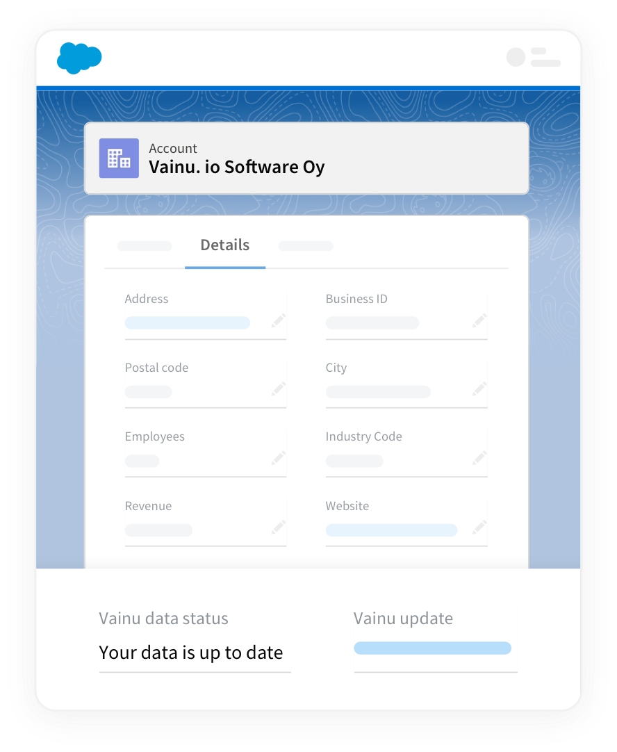 Get your Salesforce account information up to date