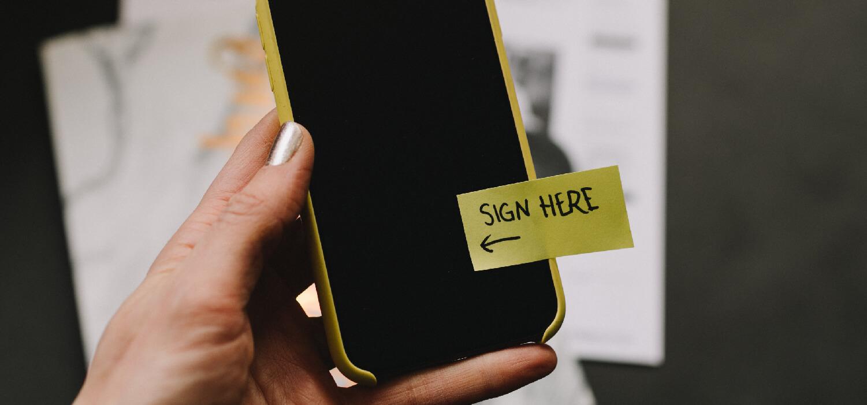 electrische handtekening om het salesproces te optimaliseren
