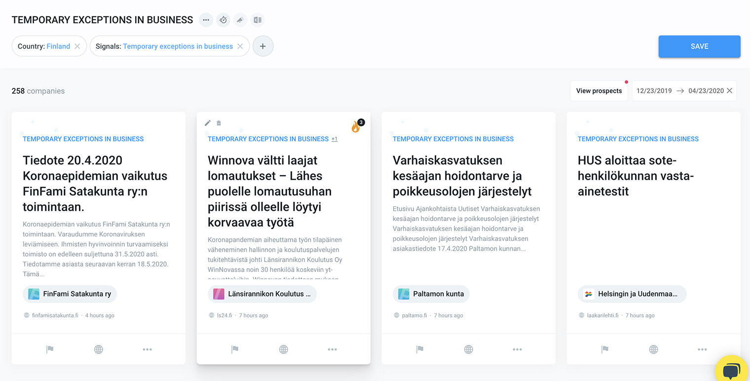 Updates in Vainu's Finnish database to help you benefit from Vainu to the max
